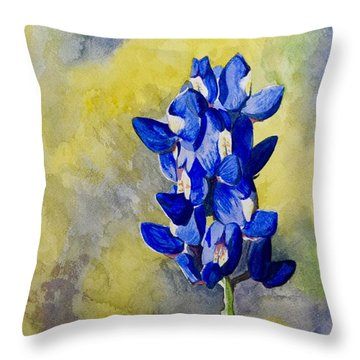 Blue Throw Pillow by Holly York