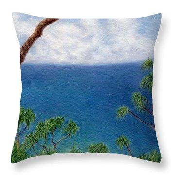 Blue Horizon Throw Pillow by Kenneth Grzesik