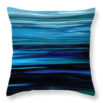 Blue Horrizon Throw Pillow