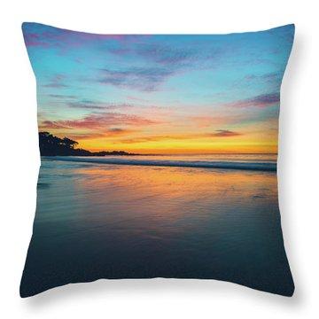 Blue Hour At Carmel, Ca Beach Throw Pillow