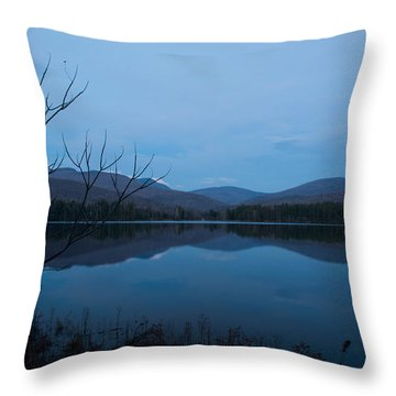 Blue Hour At Cooper Lake Throw Pillow