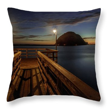 Blue Hour At Morro Bay Throw Pillow