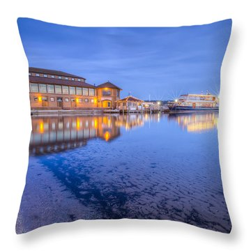 Throw Pillow featuring the photograph Blue Hour At The Riviera by Paul Schultz