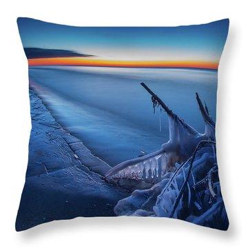 Blue Hour Fisheye Throw Pillow
