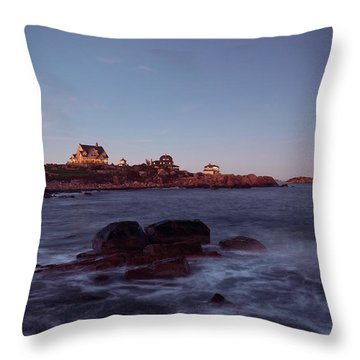 Blue Hour In Gloucester Throw Pillow