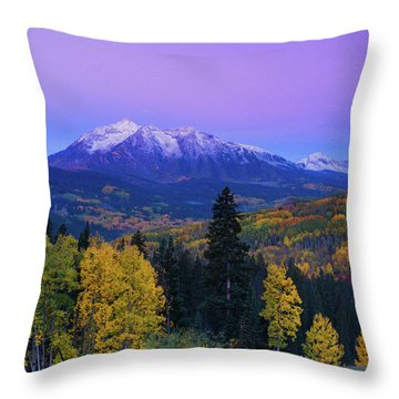 Blue Hour Over East Beckwith Throw Pillow