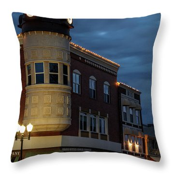 Blue Hour Over The Clock Tower Throw Pillow