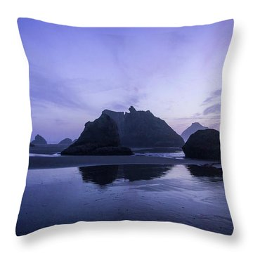 Blue Hour Reflections Throw Pillow
