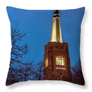 Blue Hour Steeple Throw Pillow