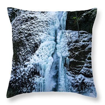 Blue Ice And Water Throw Pillow