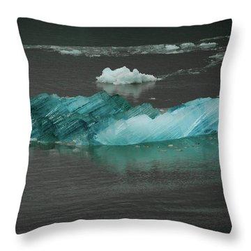 Blue Iceberg Throw Pillow