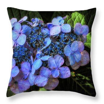 Blue In Nature Throw Pillow