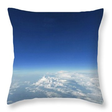 Throw Pillow featuring the photograph Blue In The Sky by AmaS Art