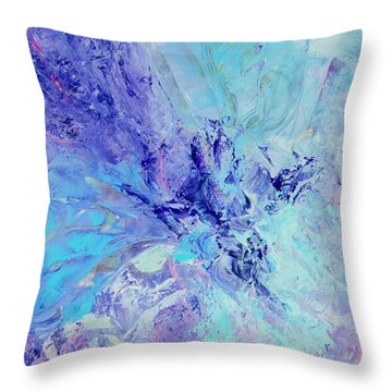 Blue Indigo Throw Pillow by Irene Hurdle