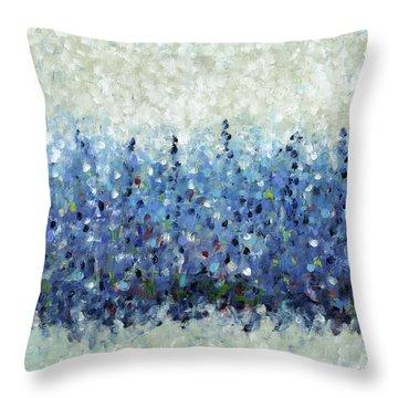 Blue Intensity Throw Pillow