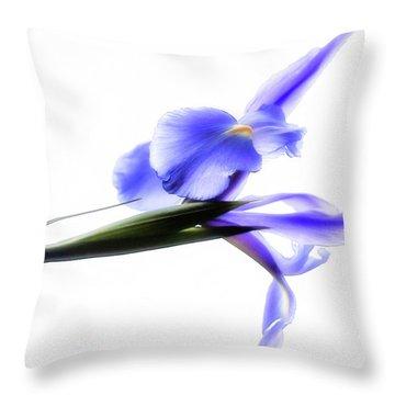 Blue Iris For Irma Throw Pillow
