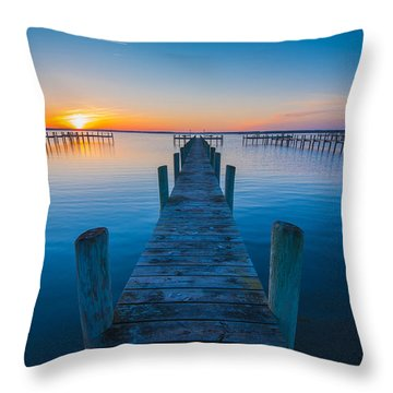 Throw Pillow featuring the photograph Blue Is The Bay by Steven Ainsworth