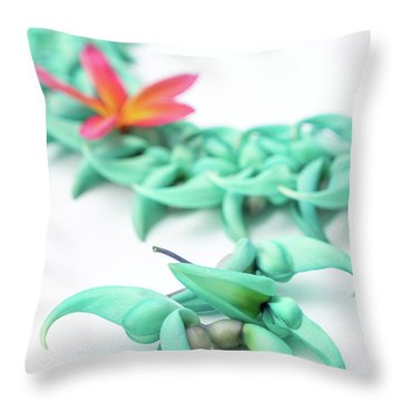 Blue Jade Lei Throw Pillow