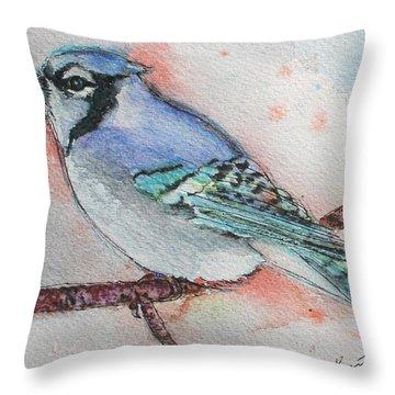 Blue Jay Throw Pillow