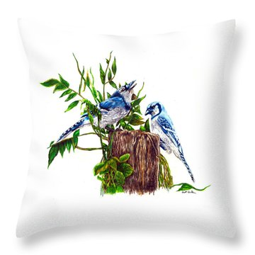 Blue Jays Throw Pillow