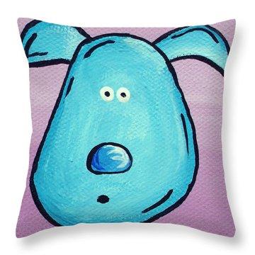 Blue Throw Pillow by Jera Sky