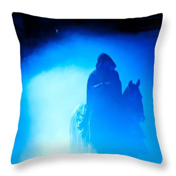Throw Pillow featuring the photograph Blue Knight by Louis Dallara