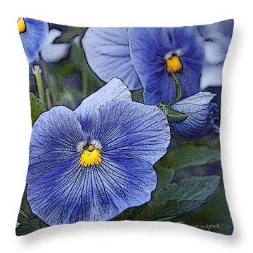 Blue Ladies Throw Pillow