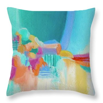 Blue Lagoon Throw Pillow by Irene Hurdle