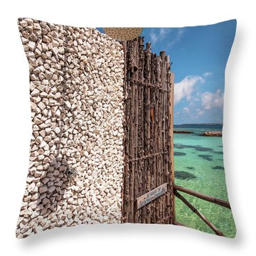 Throw Pillow featuring the photograph Blue Lagoon View 1 by Jenny Rainbow