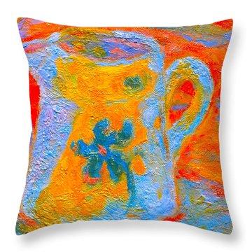 Blue Life Throw Pillow