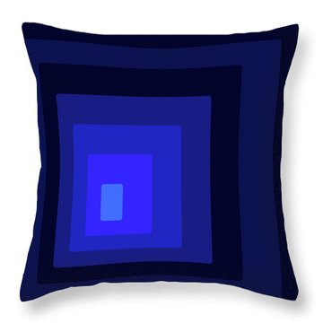 Blue Light At The End Of The Rec-tunnel Throw Pillow