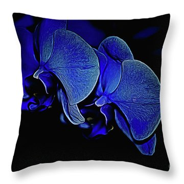 Blue Light Throw Pillow by Diana Mary Sharpton