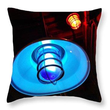 Blue Light Special Throw Pillow