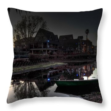 Blue Lights Throw Pillow