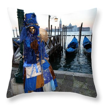 Blue Lips At Sunrise Throw Pillow