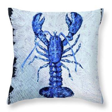 Blue Lobster 1 Throw Pillow