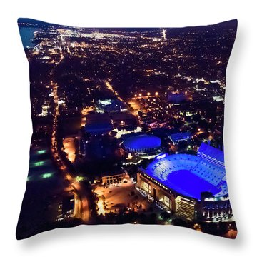 Blue Lsu Tiger Stadium Throw Pillow