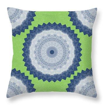 Blue Mandala- Art By Linda Woods Throw Pillow
