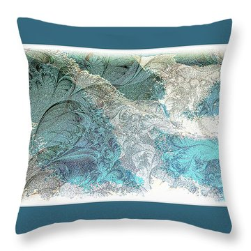 Throw Pillow featuring the photograph Blue Maze by Athala Carole Bruckner
