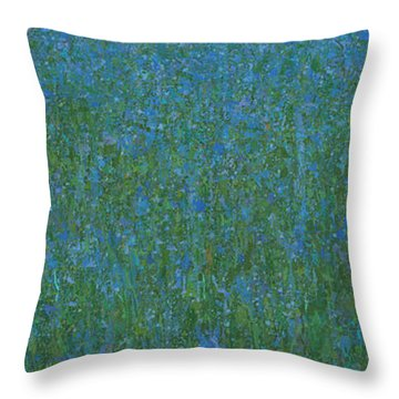 Blue Meadow 1 Throw Pillow