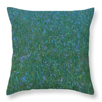Blue Meadow 2 Throw Pillow