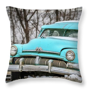 Blue Mercury Throw Pillow