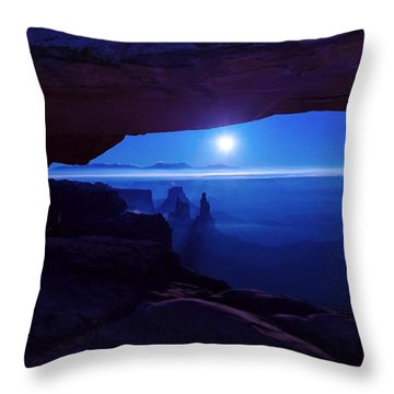Blue Mesa Arch Throw Pillow by Chad Dutson