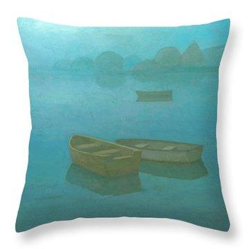 Blue Mist Throw Pillow by Steve Mitchell