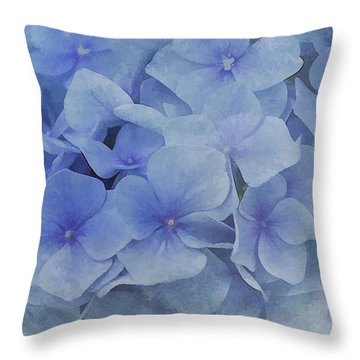 Throw Pillow featuring the photograph Blue Moments by Elaine Manley