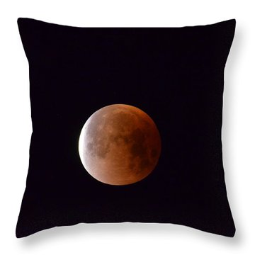 Blue Moon 1-31-18 Throw Pillow