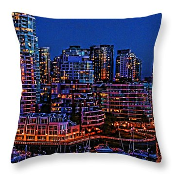 Blue Moon 2 Throw Pillow