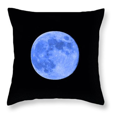Blue Moon Throw Pillow by Al Powell Photography USA