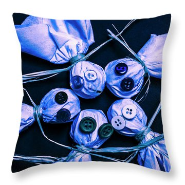 Blue Moon Halloween Scarecrows Throw Pillow