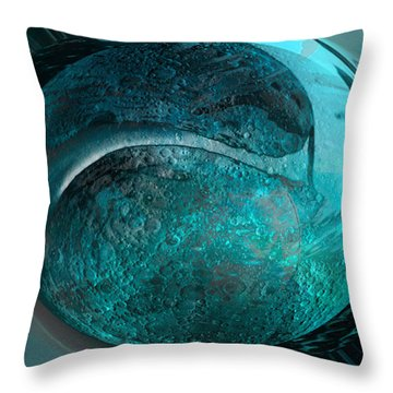 Blue Moon Throw Pillow by Kevin Caudill